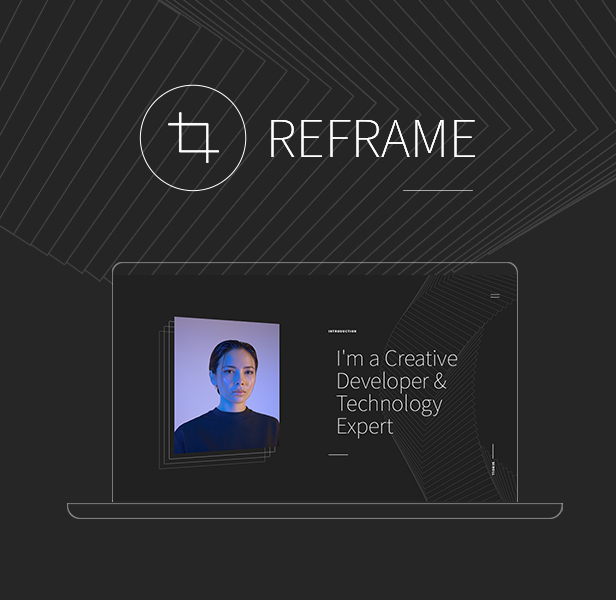 Reframe - Personal One Page Portfolio HTML Template - 1